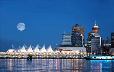 Vancouver night landscape